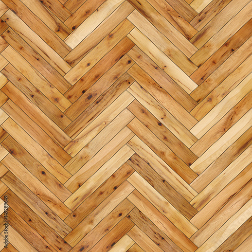 Seamless Wood Parquet Texture Herringbone Light Brown Stock Photo