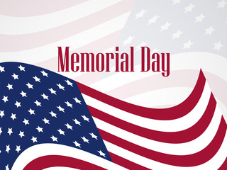 Memorial Day. National American holiday. Banner template. Vector illustration
