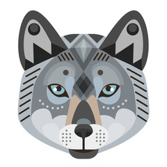 Wolf Head Logo. Vector decorative Emblem.