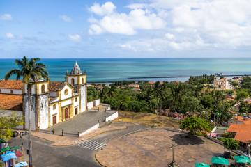 Aerial view of Se Cathedral - Olinda, Pernambuco, Brazil