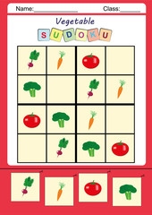 Funny picture sudoku for kids