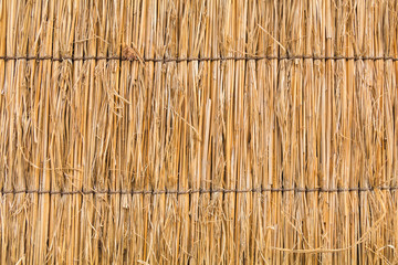 detail of Japanese thatched roof texture background