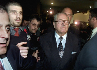 FRANCE'S FAR-RIGHT NATIONAL PRESIDENTIAL CANDIDATE JEAN-MARIE LE PENARRIVES AT THE EUROPEAN ...
