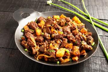 Authentic Indian cuisine-Mutton roast