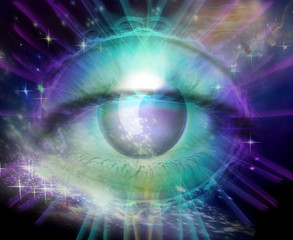 Quantum Universe and Eye of Consciousness or God