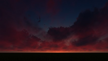 DARK-BLUE SKY WITH DARK CLOUDS