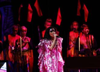 Icelandic singer Bjork performs during  Volta Tour in Tokyo