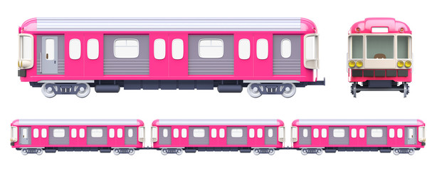 subway train pink side