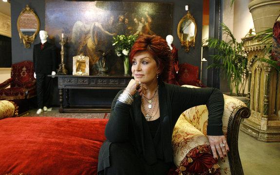 Sharon Osbourne poses in Beverly Hills