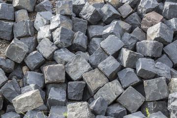 einzelen Steine für Kopfsteinpflaster Pflastersteine