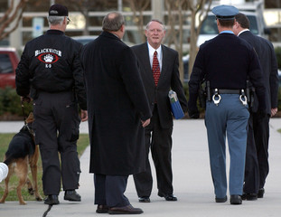 PROSECUTING ATTORNEY HORAN LEAVES COURTHOUSE AFTER MALVO WAS FOUND GUILTY IN SNIPER TRIAL.