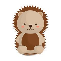 kawaii porcupine animal icon over white background. vector illustration