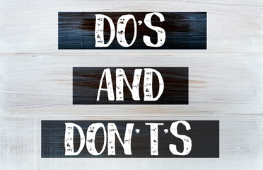 Do's and don't's concept