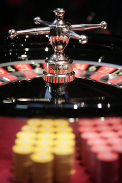 A roulette wheel is seen at the new Casino Barriere in Toulouse