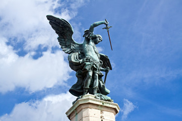 Rome, Saint Michael the Archangel (statue in Castel Sant'Angelo)