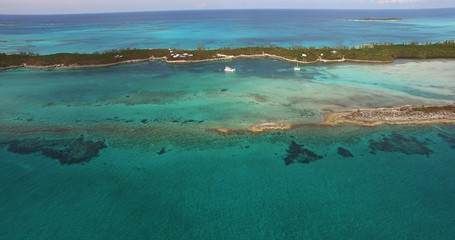 Aerial View of Bahamas Paradise Islands