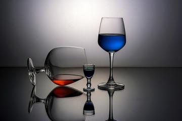Beauty wine glasses