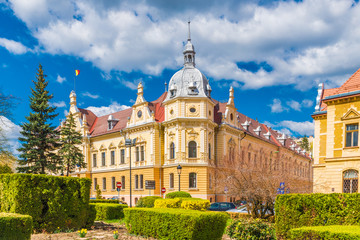 Wall Mural - Brasov, the most beautiful and medieval place of Transylvania, Romania.