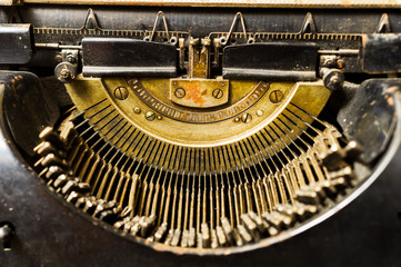 vintage typewriter close-up