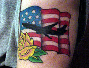 PATRIOTIC TATTOOS AT INKSLINGERS BALL IN HOLLYWOOD.