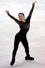 Japans Nakano performs at international figure skating competition in Kadoma Japan