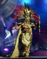 DANCER PERFORMS DURING CARNIVAL CELEBRATION IN LAS PALMAS.