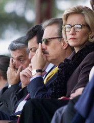 COLOMBIAN PRESIDENT PASTRANA ATTENDS AN OFFICIAL CEREMONY.