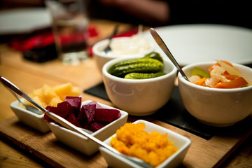 Vegetables for raclette cheese