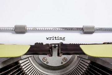 typewrite closeup - writing