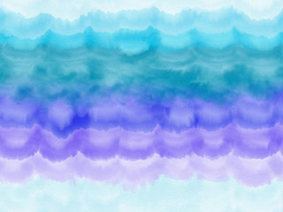 Colorful seamless hand drawn stripe abstract blue watercolor texture background, illustration of vertical lines painted by watercolor on canvas, high quality