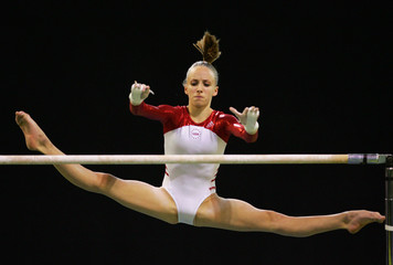 Liukin of US competes in the Uneven Bars final at the World Gymnastic Championships in Melbourne
