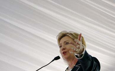 U.S. Secretary of State Hillary Clinton makes remarks after receiving the 2009 Alice Award in Washington