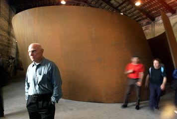 USA'S RICHARD SERRA POSES AT VENICE INTERNATIONAL ART EXHIBITION.