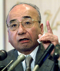 Kanji Nishio, chairman of the group of Japanese historians who wrote a controversial history textboo..