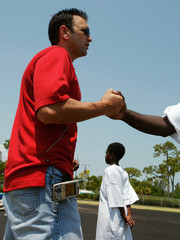 NFL agent Drew Rosenhaus makes an appearance at the Barrett Green Youth Football Camp in Florida.