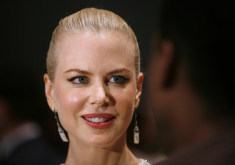 """Nicole Kidman is interviewed after arriving at the premiere of the movie """"Margot at the Wedding"""" in New York"""