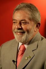 Braziilian President Luiz Inacio Lula da Silva gives an interview to Reuters at Brazil's embassy in Beijing