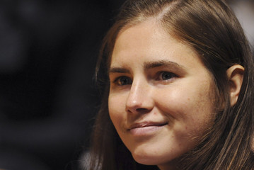 American university student Amanda Knox looks on in the courtroom during a murder trial session in Perugia