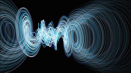 Futuristic particle wave background design illustration