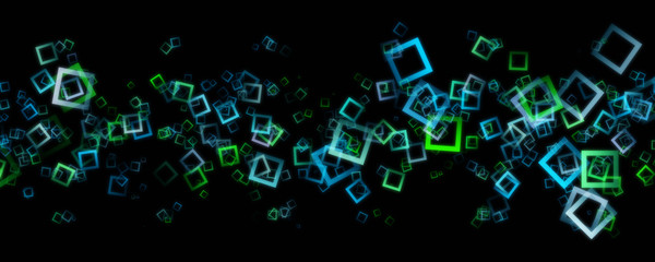 Fantastic abstract eco square panorama background design illustration