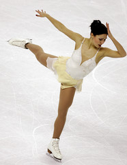 Finland's Poykio performs her free programme in the European figure skating championships ladies ...