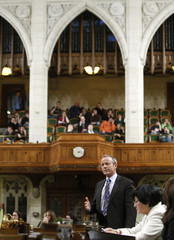 Canada's International Trade Minister Day speaks in the House of Commons on Parliament Hill in Ottawa