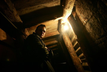 - PHOTO TAKEN 17NOV05 - Edis Kolar, whose family members maintain the famous Sarajevo tunnel, the on..