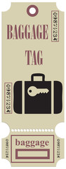 Stock Vector Graphics Baggage tag