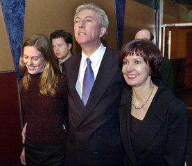 BLOC QUEBECOIS LEADER GILLES DUCEPPE WALKS INTO THE MONTREAL SPECTRUM.