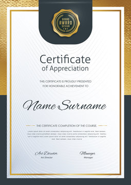 certificate template with luxury pattern,diploma,Vector illustration