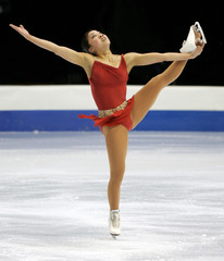 Michelle Kwan performs at the U.S. Figure Skating Championships.