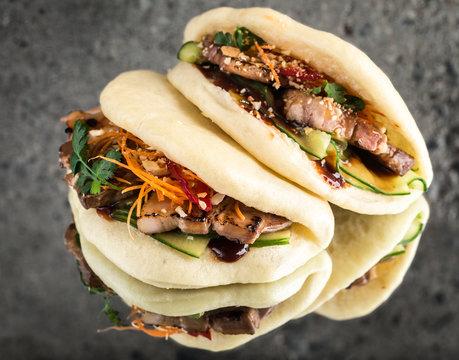 Bao bun, steamed sandwich, gua bao