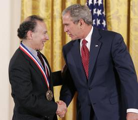 U.S. President Bush awards Langer in East Room of the White House