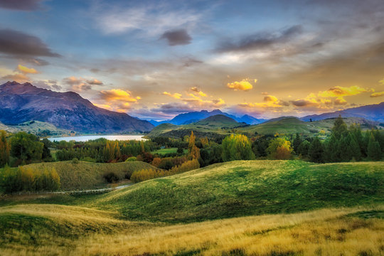 Sunset in the Arrowtown Hills